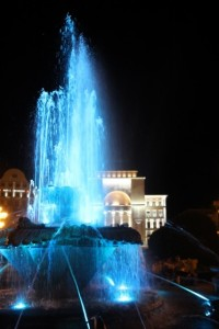 the fountain at night, Piata Victoriei