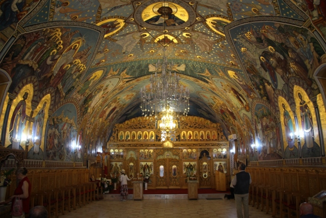 interior of a small Orthodox church near the market