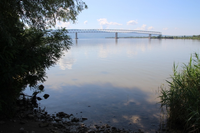 bridge across the Danube, to nowhere