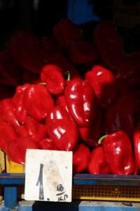 peppers in the market
