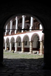 entrance to the Rila Monastery