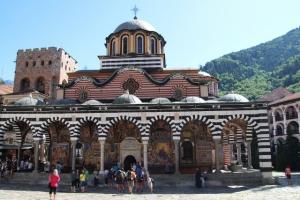 the church, centre piece of the Rila Monastery