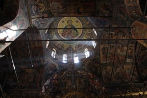 inside the church, the ceiling