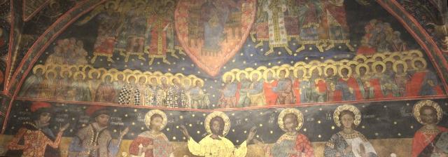 one of the inside frescos in Bachkovo