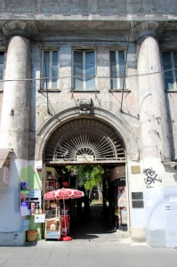 entry to a traditional courtyard in Taksim