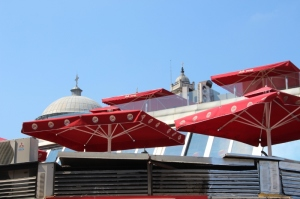 roof terraces along Taksim Square