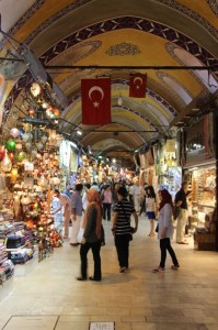 one of the corridors in the Grand Bazaar