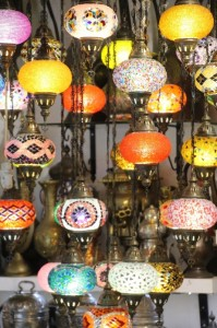 and colourful lamps, Grand Bazaar