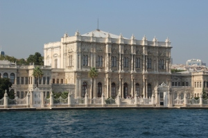 one of the many palaces along the Bosphorus