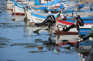 small boats in the fishing port of Sozopol