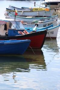 boats in the harbour of Nesebar