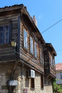 in Nesebar, too, wooden houses have been patched up, many now owned by foreigners