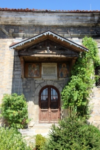 unused entrance to the church