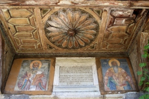 just to get an idea, these are outside frescos above the entrance