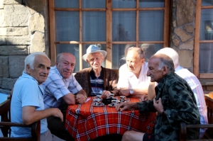 group of Lovech residents on a terrace