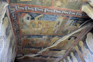 roof frescos inside the Mother Church