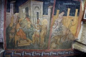 more frescos, quite bright for 14th C origin