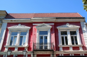 attractive facade of a Ruse turn-of-the-century house