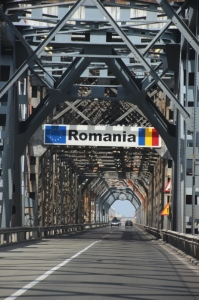 the bridge across the Danube, from Ruse to Giurgiu