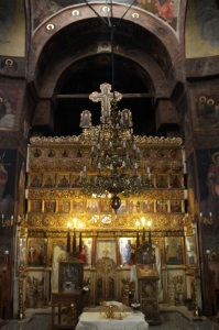 iconostasis in the Prince Mihai Monastery church