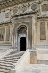 marble doorway of the cathedral