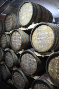 each barrel carefully marked