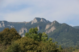 Ceahlau Massif, from the balcony of our cabana (guesthouse)