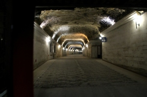 the tunnels in the limestone, part of the 128 km