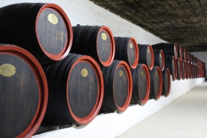 barrels lined up along the tunnels