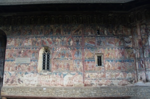 the outside wall showing the Hymn of Our Lady