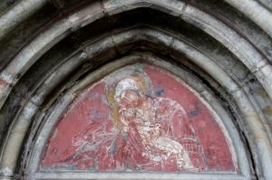 fresco above the door of Humor church
