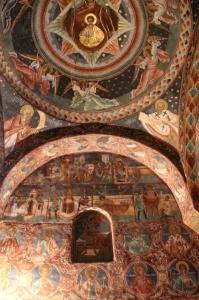 inside the Voronet monastery church