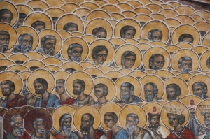 detail of the Last Judgement fresco