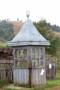 even water wells have a metal roof cover