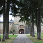 approach of the Sucevita Monastery in Bucovina