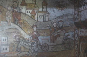 picture is not sharp, but I liked the subject matter, carriage and dotted horse