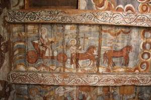 one of the frescoes in the first chamber of the church