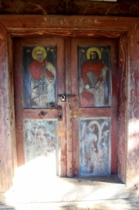 the door, painted on the outside