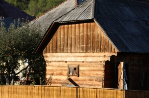 many houses and barns are made of wood