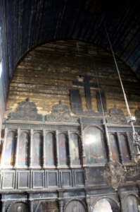the wooden iconostasis