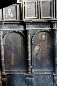 icons of the iconostasis, in close up