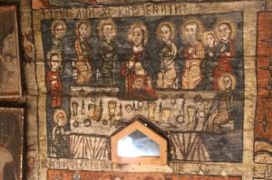Last Supper, fresco in the Desesti church