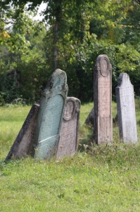 some of the Jewish tombstones