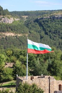 the Bulgarian flag in Veliko Tarnovo