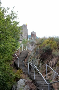 the final steps to reach Poienari Fortress