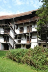 three stories high, accommodation for villagers in times of siege