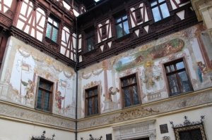 the walls on the inner courtyard, decorated