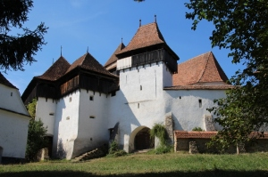 the fortified church compound in Viscri