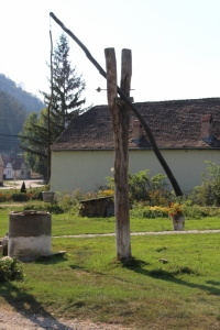 water well in a Transylvanian village