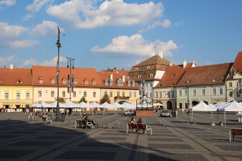 Piata Mara, one of the large squares in Sibiu's citadel